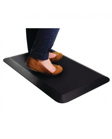 Contour Ergonomics Anti-Fatigue Floor Mat 60x40cm Curl Proof Black CE01467
