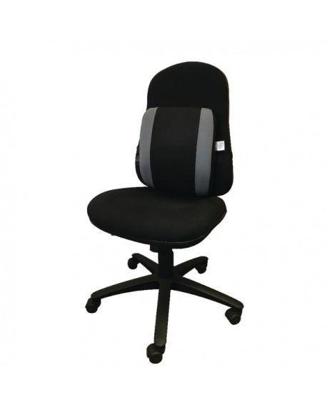 Contour Ergonomics Adjustable Premium Lumbar Back Support Black/Grey CE77701