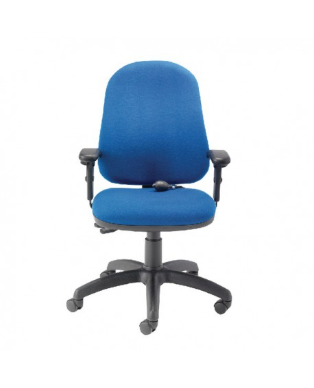 FR First High Back Posture Chair with Adjustable Arms Blue KF839325