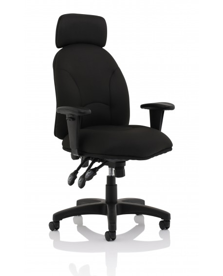 Jet Black Fabric Executive Chair