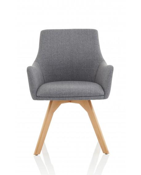 Carmen Wooden Leg Visitor Chair