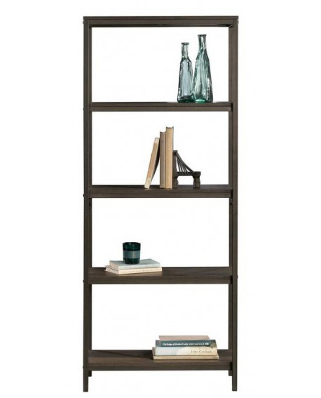 INDUSTRIAL STYLE 4 SHELF BOOKCASE SMOKED OAK