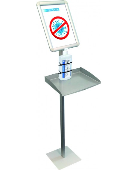 Hygiene Information Display Stand with Tray, A4 format