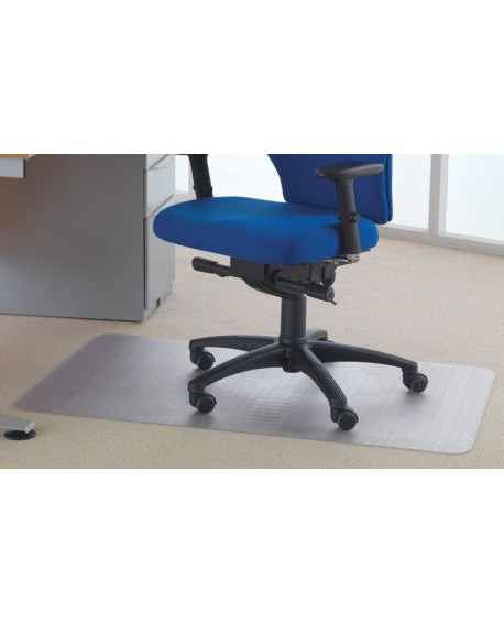 Cleartex Chair Mat Carpet 1200x750mm Clear FL74288
