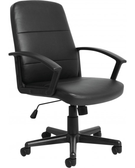 Gomez Black Leather Look Chair CH1766