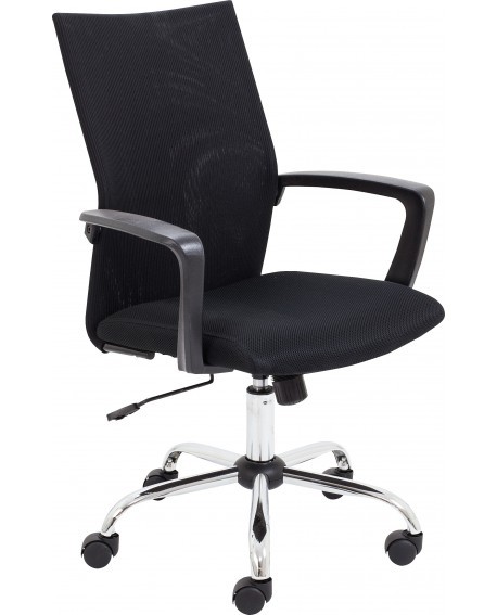 Jemini One Task Mesh Chair with Fixed Arms Black CH3311BK