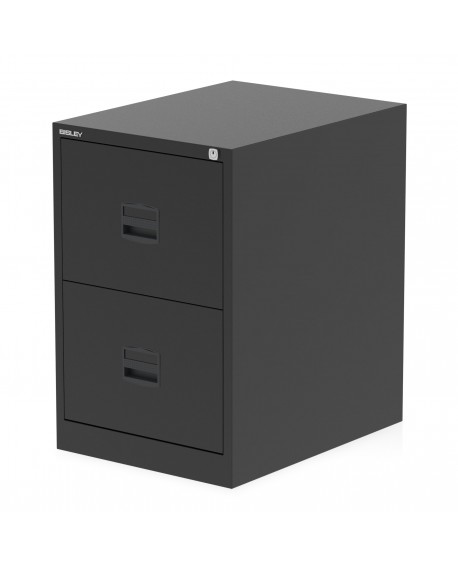 Bisley Qube 2 Drawer Filing Cabinet