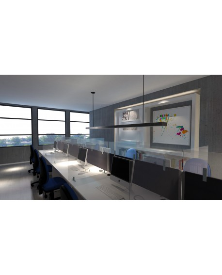 Protect Plus Acrylic Desktop Screen Topper 1200 x 300