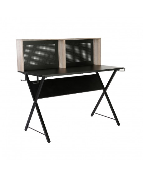 Ellora Home Office Workstation With Shelving Storage Unit