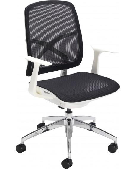 Office Hippo Soho Task Chair Black Mesh/White