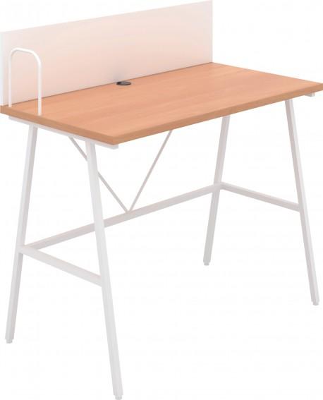 Jemini Soho Desk with Backboard Beech/White Leg SD09WHBE