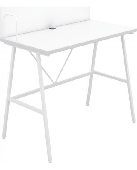 Jemini Soho Desk with Backboard White/White Leg SD09WHWH