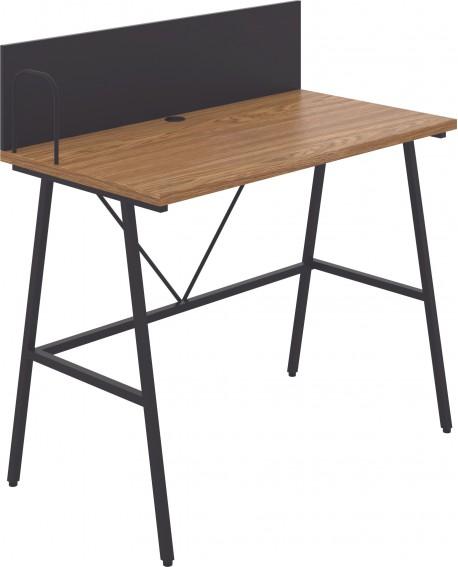 Jemini Soho Desk with Backboard Oak/Black Leg SD09BKOK