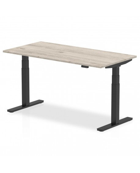 Air Height Adjustable Desk With Black Legs