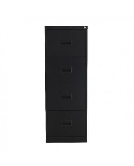 Talos 4 Drawer Filing Cabinet Black KF78770