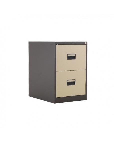 Talos 2 Drawer Filing Cabinet Coffee Cream KF78763