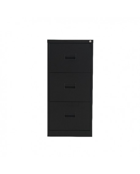 Talos 3 Drawer Filing Cabinet Black KF78766