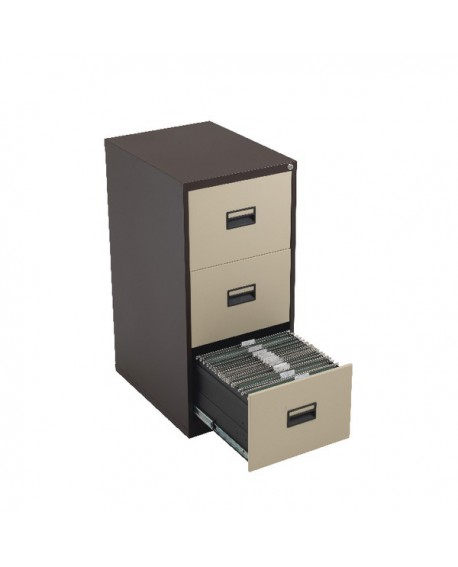 Talos 3 Drawer Filing Cabinet Coffee Cream KF78767