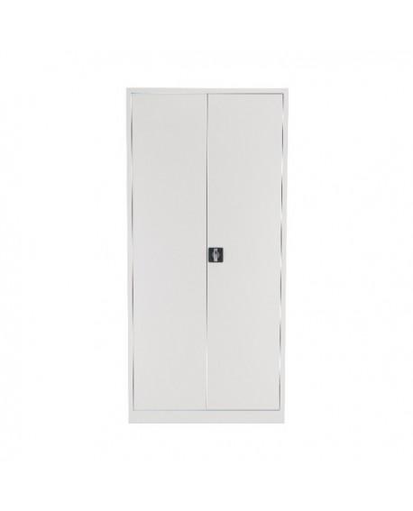 Talos Double Door Stationery Cupboard 1950 White KF78757