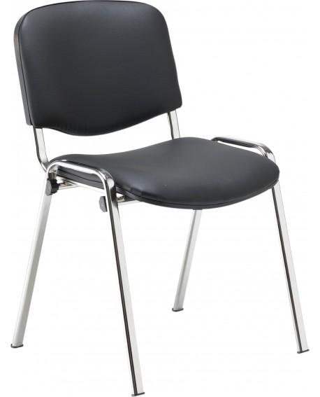 Jemini Multipurpose Stacker Chair Chrome/Black Polyurethane CH0503PU