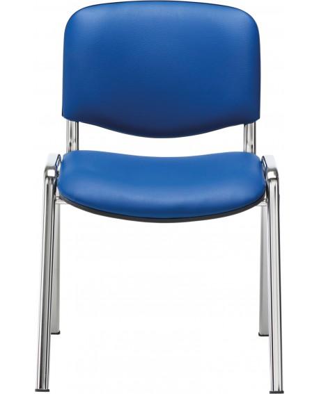 Jemini Multipurpose Stacker Chair Chrome/Blue Polyurethane CH0503PUBL