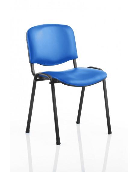 ISO Vinyl Stacking Chair Black Vinyl