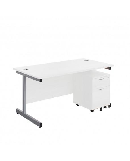 Office Hippo Rectangular Desk and Pedestal Bundle