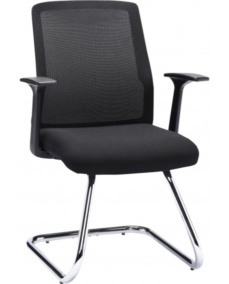 Office Hippo Visitor Chair With Chrome Frame
