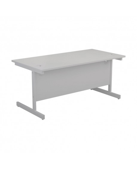 Office Hippo Heavy Duty Rectangular Cantilever Desk with White Leg
