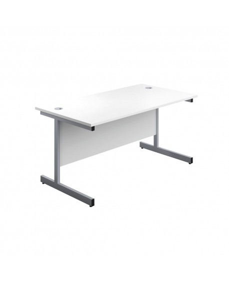 Office Hippo Heavy Duty Rectangular Cantilever Desk Silver Leg