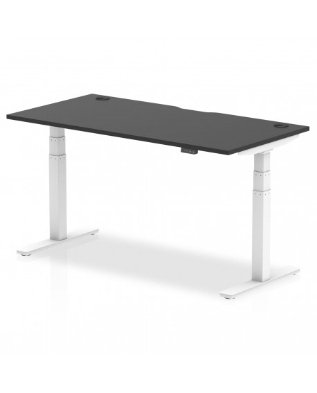 Air Height Adjustable Desk With White Legs
