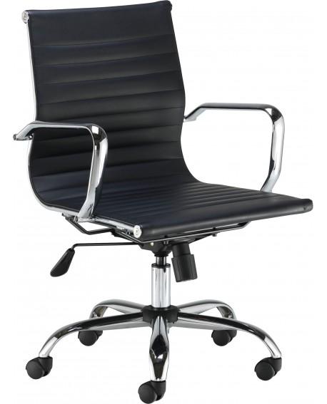 First Sosa Operator Chair Leather Black KF90983