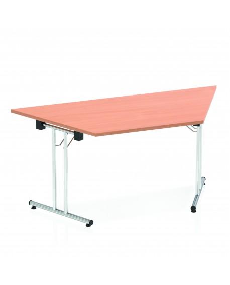 Impulse 1600mm Folding Trapezium Table Beech Top