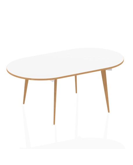 Oslo Oval Boardroom Table White Top