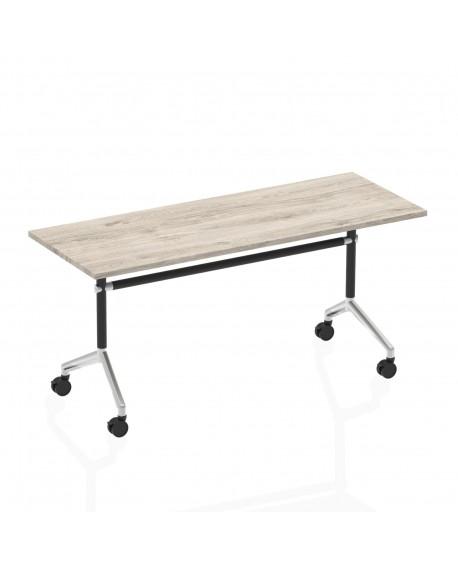 Impulse 1600mm Flip Top Rectangular Mobile Table