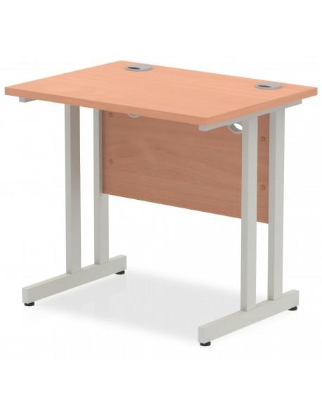 Impulse 800/600 Silver Cantilever Leg Rectangle Desk