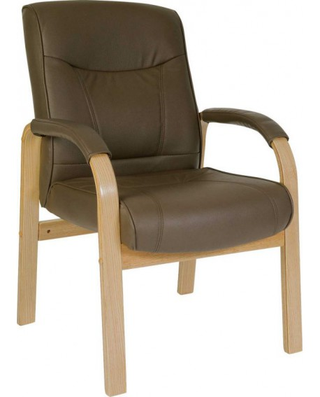 Richmond Brown Bonded Leather Visitor Chair