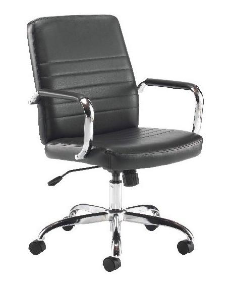 Jemini Amalfi Leather Look Meeting Chair Black KF79135