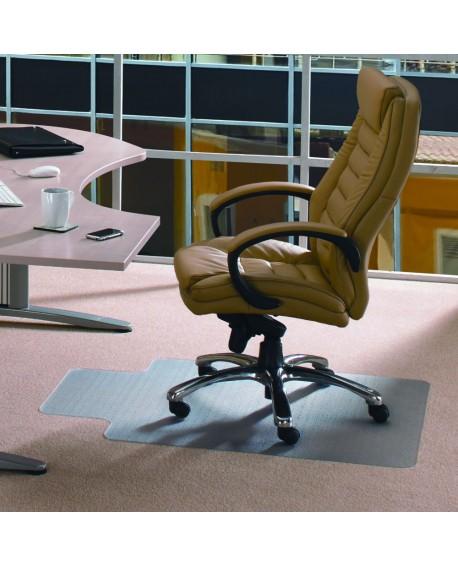 Cleartex PVC Chair Mat Carpet Lipped 1350x1150x2.2mm Clear 11341525LV
