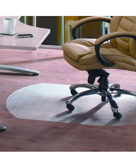 Cleartex PVC Chair Mat Carpet Contoured 1250x1000x2.2mm Clear 119932SV