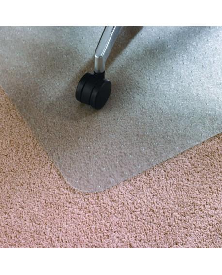 Floortex Cleartex Rectangular Chair Mat Carpet 1500x1200x2.2mm PVC Clear 1115225EV