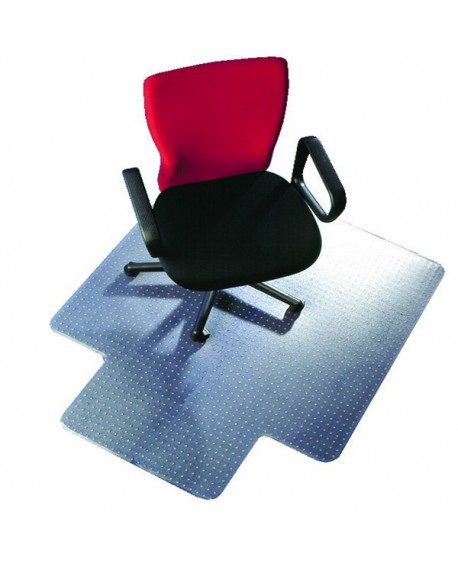 Q-Connect Clear Chair Mat Studded Underside for Secure Grip 1346x1143x2mm PVC KF02256