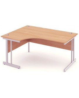 Impulse Cantilever Leg Crescent Desk