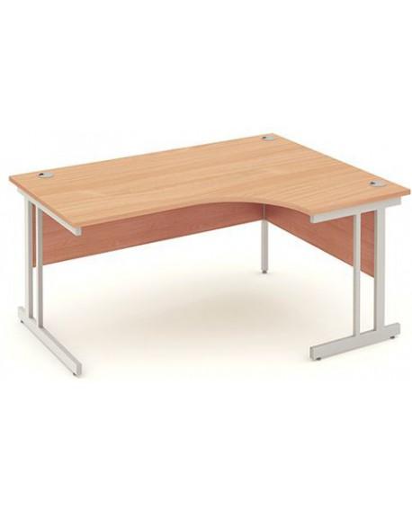 Impulse Cantilever Leg Crescent Desk