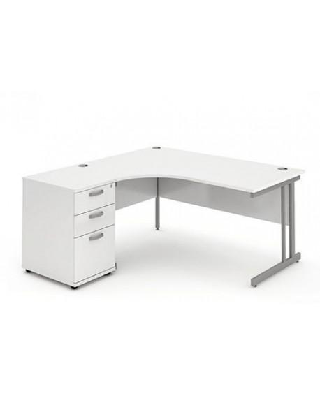 Impulse Cantilever Leg Workstation With Pedestal Bundle