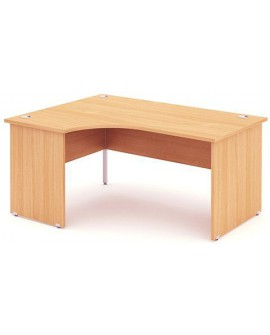 Impulse Panel Leg Crescent Desk