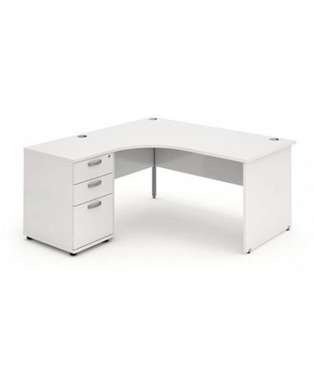 Impulse Panel Leg Workstation With Pedestal Bundle