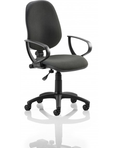 Eclipse I Fabric Task Operator Chair Loop Arms
