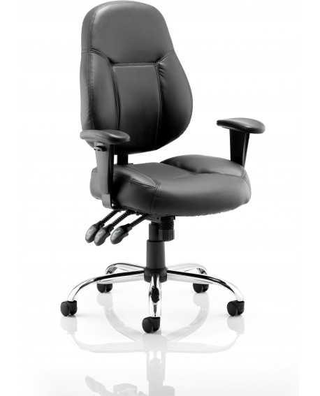 Storm Leather Task Operator Chair