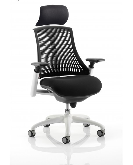 Flex White Frame Task Operator Chair